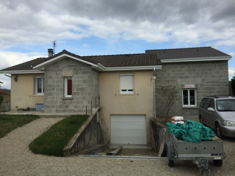 Extension d 39 une maison salagnon 38 2015 projets for Extension maison 74